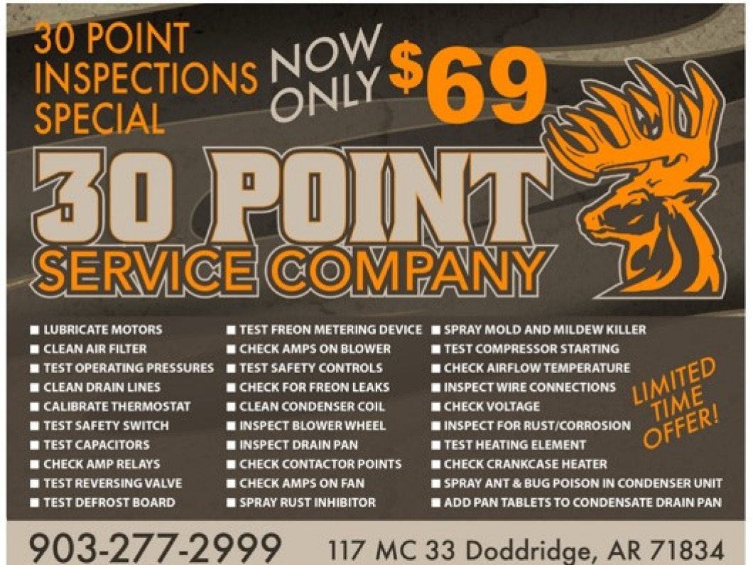 Trust 30 Point to Give 100% For Your HVAC Service